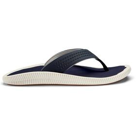 OluKai Ulele Sandalen Heren, blauw/wit